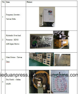 200ton Frequency Inverter Semi Closed H Frame Stamping Press pictures & photos