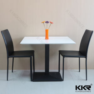 High Quality Wholesale Acrylic Solid Surface Restaurant Dining Table pictures & photos