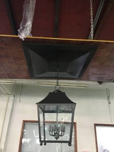 B50-380 Clear Glass Shade and Metal Bronze Finish Pendant