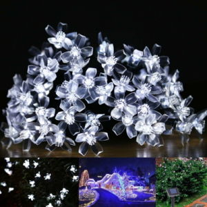Solar Lamps 4.8m 20LEDs Flower Lights for Garden Outdoor Christmas pictures & photos