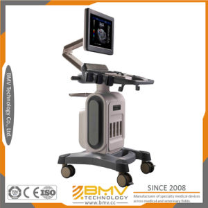 Medical 15inch Touch Screen 4D Color Doppler Ultrasound Bcu-40 Trolley pictures & photos