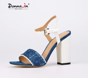2017 Fashion Lady Casual Denim High Heels Women Sandals Shoes pictures & photos