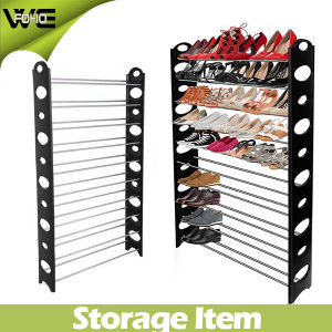 Cheap Easy Assemble Waterproof Plastic Storage Shoe Rack pictures & photos