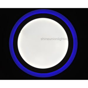 LED Two Color Surface Round Panel Light for (3 steps) (6+3) W pictures & photos
