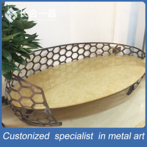 New Style 3+2+1 Stainless Steel Tea Table with Special-Shaped Chair pictures & photos