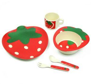 BPA Free Eco Bamboo Fiber Kitchenware Kids Dinnerware Set (YK-KS009) pictures & photos