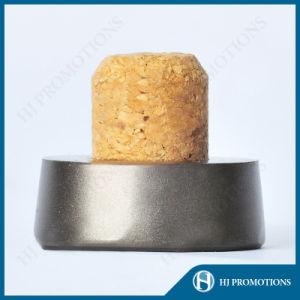 Matt Black Plating Metal Cap for Liquor Bottle with Cork (HJ-MCJM04) pictures & photos
