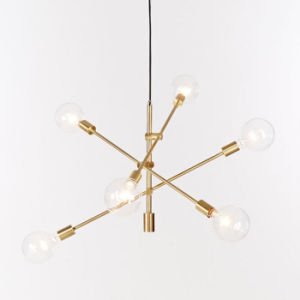 Postmodern Style Indoor Bronze/Brass/Black Metal Hanging Pendant Lamp Lights for Dining Room pictures & photos