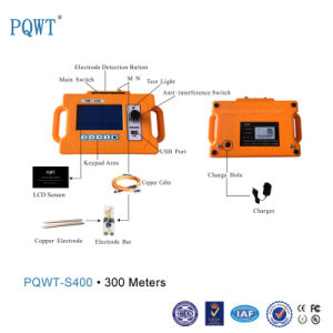 Pqwt-S400 Portable Multi-Function Measure Instrument Underground Water Detector 300m pictures & photos