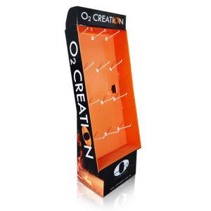 POS Floor Display, Cardboard Pop Display with Hook pictures & photos