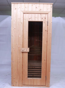 Cheap Spruce Wooden 1 Person Portable Sauna Room pictures & photos