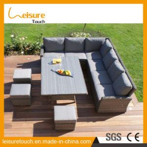 Durable Latest Garden Patio Leisure Outdoor Furniture Lounge Wicker Rattan Long Sofa Set pictures & photos