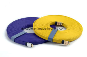 20m Flat HDMI Cable with Al-Shell pictures & photos