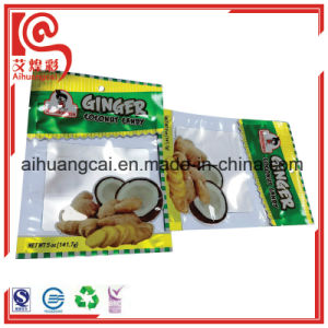 Three Side Sealed Cooked Ginger Packaging Plastic Bag pictures & photos