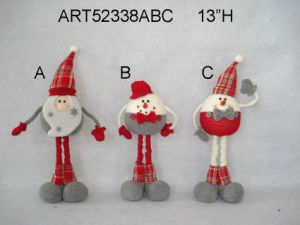 "13""H Standing Santa and Snowman, 3 Asst-Christmas Decoration pictures & photos"