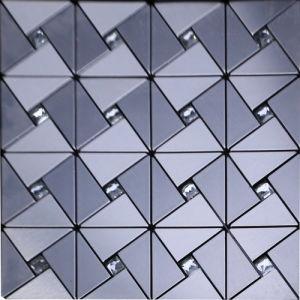 Royllent Geometric Silvery Golden Mosaic Tiles Interior Home Decor Wallsticker