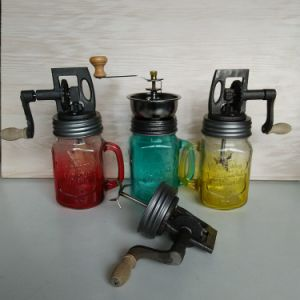 Hot Sell Painting 16oz Glass Mason Jar Kitchen Manual Vintage Butter Churn Hand Machine Mixer Home Diary pictures & photos