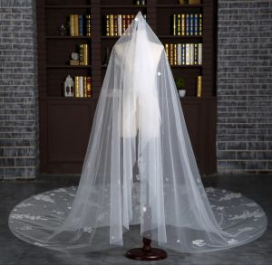 Brand New Cathedral Length 3 Meter Ivory Wedding Veil with Full Appliques pictures & photos