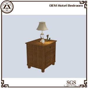 Wood Veneer Painting Hotel Bedroom Pedestal