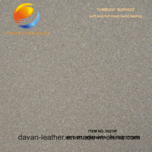 God Quality Artificial Leather for Shoes with Yumbuck Suface pictures & photos