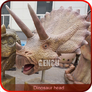 Playground Equipment High Simulation Life Size Dinosaur Head pictures & photos