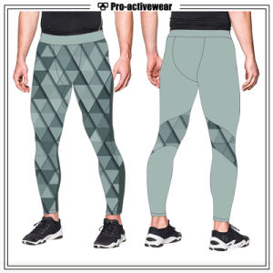 Custom Lycra Dri Fit Compression Tights OEM Service Wholesale Sportswear pictures & photos