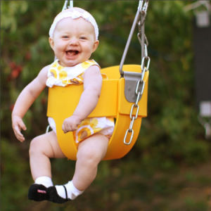 High Back Full Bucket Swing with Chain for Toddler and Baby pictures & photos