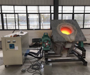 500kg Copper Steel Melting Induction Furnace for Sale (GYM-200AB) pictures & photos