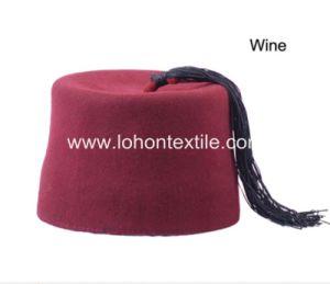 100% Wool Material Muslim Prayer Cap Fez Cap with Tassel pictures & photos