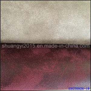 Classical Old Times Style Yangbuck PU Leather for Shoes pictures & photos