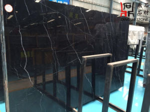 Nero Marquina Marble Bathroom Tile Black Natural Stone Marble for Building Material pictures & photos