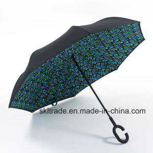 Colourful Portable Handsfree Straight Reverse Inverted Umbrella pictures & photos