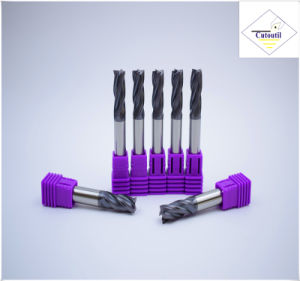 Cutoutil HRC45 Tialn Coating D10*25*75  2f/4f for Steel CNC Machining Part  Square Carbide End Mills Tools pictures & photos
