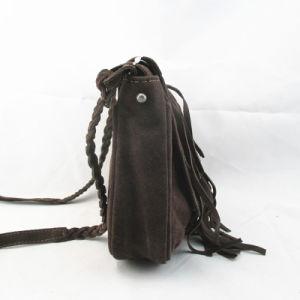 Trendy Cow Split Leather Cross Body Fringe Bag pictures & photos