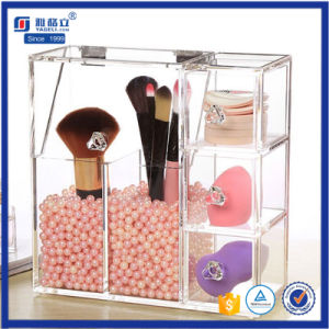 Clear Acrylic Material Acrylic Makeup Brush Holder pictures & photos