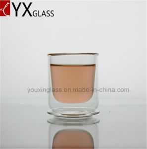 80ml Wholesale Double Wall Layer Glass Cups/Espresso Coffee Beer Double Glass Mugs/Glass Cup Drinkware Glass with Lid or Pallet pictures & photos