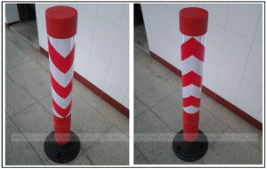 Road Barrier PE Rebounded Post pictures & photos
