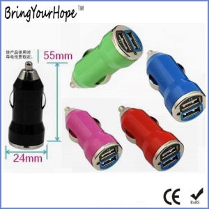 Popular Dual USB Car Charger 5V 3.1A (XH-UC-004) pictures & photos