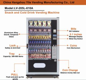 Cheap Price Coin and Bill Operated Snack&Drink Combo Vending Machines LV-205L-610A pictures & photos