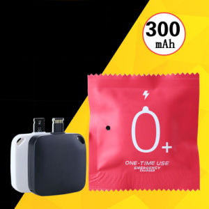 One Time Use Emergency Disposable Battery Charger 300mAh pictures & photos