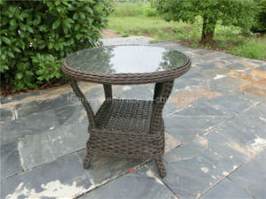 10mm Half Moon Curve Flat Wicker Dining Set pictures & photos