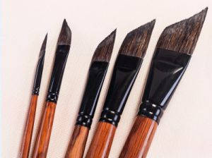 Squirrel Hair Wooden Handle Acrylic Watercolor Artist Art Brush pictures & photos