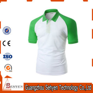 Brand Logo Stylish Sports Green and White Cotton Polo Tshirt pictures & photos