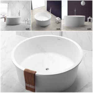 Sanitary Ware Round Acrylic Solid Surface Stone Bathtub (BT170801) pictures & photos