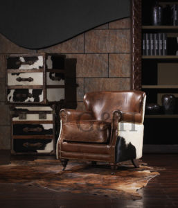 Latest Sofa Design Upholstery Leather Single Sofa Chair Armchair for Living Room pictures & photos