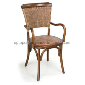Modern Leisure Wooden Restaurant Chair with Arm for Cafe (SP-EC108) pictures & photos