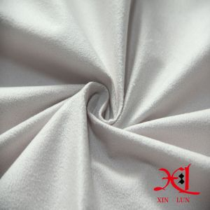 Polyester White Suede Fabric for Dress/Clothes/Shoes/Boots pictures & photos