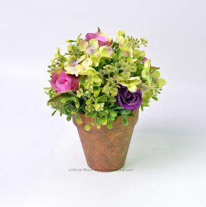 Beautiful Pleasant Artificial Rose Flower Bonsai Topiary pictures & photos