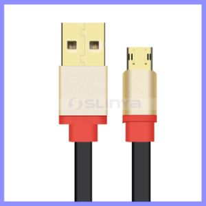 USB3.0 Charger V8 Cables Slim Double Micro USB Data Cable for Samsung S6 S7 Edge Note 5 7 Android Mobile Phone pictures & photos