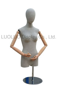 Popular Linen Wrapped Male Mannequin with Wooden Arms pictures & photos
